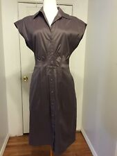 NWOT Taupe Shimmer Esprit Shirt Dress Sz 10