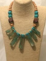 Statement Chunky Long Big Large Multi Coloured Bead Beaded Necklace Hippie Hippy