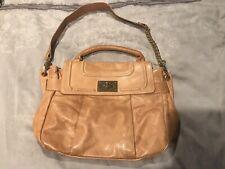 BE&D Leather Tan Glazed Gable Bag