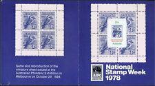 Australian Specimen Stamps 1978 20c National Stamp Week SPECIMEN on Cover