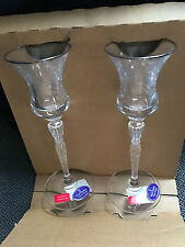 Royal Doulton Oxford candle sticks crystal