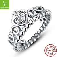 My Princess 925 Sterling Silver Finger Ring With QUEEN For Women Jewelry 6-9