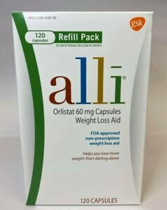 Alli (orlistat) 60mg Weight Loss Aid - 120 Capsules