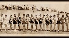 "1927 Galveston, TX Bathing Beauties Vintage Panoramic Photo Panorama 33 1/2"" L"