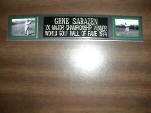 GENE SARAZEN (GOLF) NAMEPLATE FOR AUTOGRAPHED BALL DISPLAY/FLAG/PHOTO