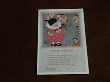 ORIGINAL CHLOE PRESTON SIGNED TUCK CHILDREN POSTCARD - PLEASE, PIERROT! No. 3461