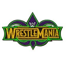 WWF WWE Wrestlemania Logo Embroidered Iron on Patch