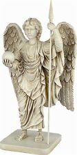 Archangel Michael Angel Standing with Orb and Spear Statue 8.5H A-024S