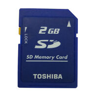 Toshiba 2GB Secure Digital SD Memory Card Standard Class4 SD-M02G Camera Genuine