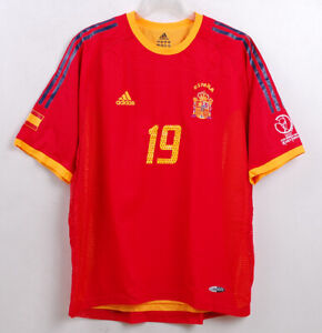 2002 World Cup SPAIN Home S/S No.19 XAVI S/S Authentic Player Issue FEF 02-03