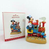 Hallmark Keepsake Mickey's Magical Railroad Magic Light Sound Motion Ornament
