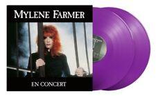 Mylene Farmer Album double 33T En Concert Exclusivité Vinyles couleur Violets