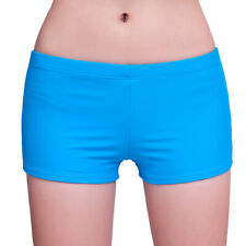 Womens Boyshorts Bikini Bottom Swimwear Bathing Boxers Trunks Swim Shorts 556