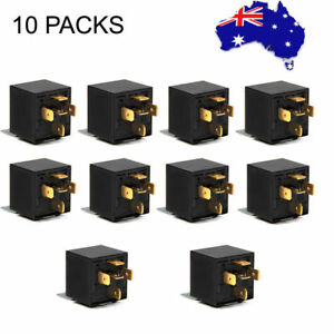 10X 40/30 Amp 12V Car SPDT Automotive Relay DC 5 Pin 5 Wires W/ Harness Socket