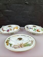 More details for 3 x royal worcester evesham gold oval casserole dishes
