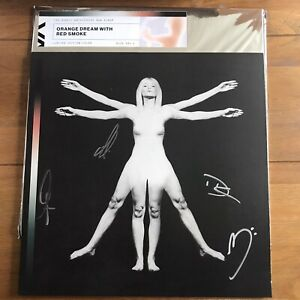 """Angels and Airwaves - Lifeforms Orange & Red Colour 12"""" Vinyl Signed"""