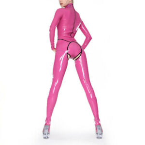 Latex Catsuit Gummi Sexy Jumpsuits With Panties Unique Cluewear  Customized .4mm