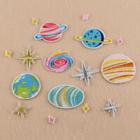 EE_ UK_ FM- 16PCS DIY EMBROIDERY UNIVERSE PLANET SEW IRON ON PATCH HAT JEANS APP