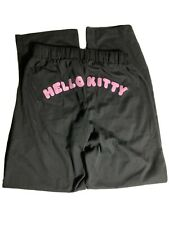 Hello Kitty Sweat Pants Sport Lounge Pant Black and Pink Youth Girls Sz M EUC