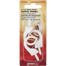 "100 Pk Hillman Anchor Wire White 1-1-/4"" Christman Light Safety Hook 3/Pk 122244"