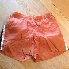 WOMENS LIGHTWEIGHT NIKE SHORTS SZ LARGE-ORANGE-RUNNING, ATHLETIC CASUAL
