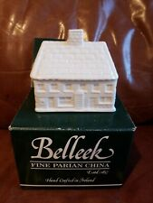 BELLEEK BALLYBEGS COTTAGE VOTIVE CANDLE HOLDER 1997
