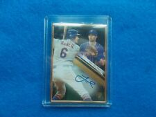 JEFF MCNEIL-2019 TOPPS GOLD LABEL AUTO RC #24/75 ISSUED METS