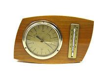 nostalgische FÖRSTER Wetterstation Massiv Holz Messing Barometer Thermometer