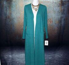LuLaRoe Sarah Cardigan Long w/ Pockets M (10-12) Green