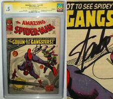 Amazing Spider-Man #23 SIGNED by STAN LEE SS CGC .5 Ditko Art Green Goblin 1965