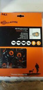A1C1 Gallagher Electric Fence XDI screw-in ring insulator G025510 25 pack