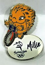 MILLIE MASCOT CYCLING BIKE BMX SYDNEY OLYMPIC GAMES 2000 PIN COLLECT #944