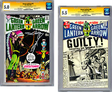 GREEN LANTERN #79-80 CGC-SS 5.0-5.5 SIGNED 2X BY NEAL ADAMS & DENNY O'NEIL 1970