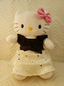Hello Kitty Sanrio Build A Bear Workshop Stuffed White Cat Plush Doll Pink Bow