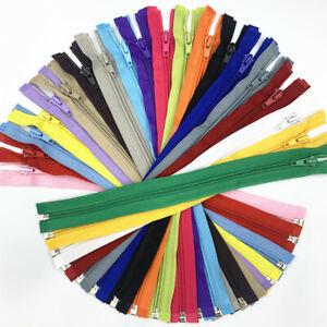 20-60 pcs 30-50cm(12-20 inch)  5# nylon coil Open-end zipper  (20 colors)##