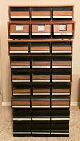 Vintage Faux Wood CASSETTE TAPE 3-Drawer Storage Case - Excellent Condition