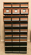 Vintage Faux Wood CASSETTE TAPE 3-Drawer Storage Case - Excellent Condition