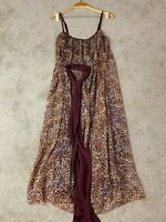 Cooper St Womens Dress Size 10 Maxi Floral Print Woven Polyester With Belt