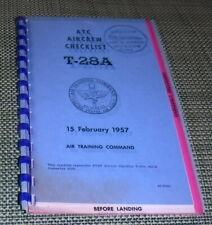 T-28A, Air Crew Checklist,Air Training Command,G+,SB,15 Feb 1957,   wr