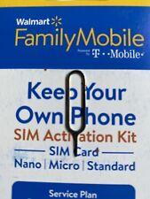 New listing Pin Change To Walmart Family Mobile Starter Kit Sim Card 3/1 Own Phone Free Ship
