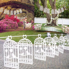 Shabby Chic Bunting Wedding Bird Cage Paper Banner Garland Decoration 3m