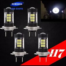 Combo 2 Pair H7 Samsung LED Chip 57 SMD Xenon White 6K Light Bulb For HONDA Bike
