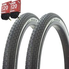 20x1.75 White BMX Bicycle Tires-Comp3 2xTires/&Tubes