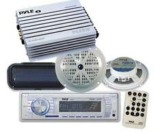 200W New Marine Boat MP3 AUX USB AM FM Radio Pair Speakers 400Watt 4 Amp Cover