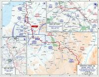 6x4 Photo ww1DBE World War 1 Maps Northwestern Europe January May 191704