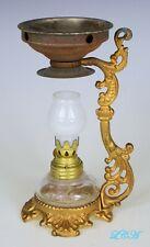 Antique miniature PATENT MEDICINE Oil Lamp VAPO CRESOLENE original & complete