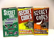 3 BOOKS SECRET CODES CONSOLES HANDHELDS XBOX NINTENDO GAMECUBE GAMEBOY PLAYSTATI