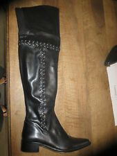 Boots over-the-Knee M By M Black Leather New Value 199E Sizes, 37,40