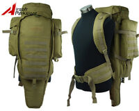 Airsoft Tactical Military Molle Dual Rifle Gun Shotgun Backpack Bag Case Tan