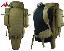 Airsoft Tactical Military Molle Dual Rifle Gun Shotgun Backpack Bag Case Tan